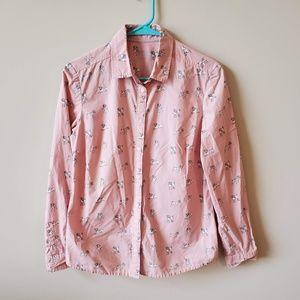 Boden Classic Shirt Dog Print Button Down Shirt